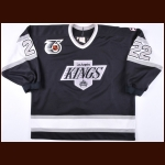 "1991-92 Charlie Huddy Los Angeles Kings Game Worn Jersey – ""25-year Anniversary"""