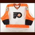 2012-13 Braydon Coburn Philadelphia Flyers Game Worn Jersey – Photo Match