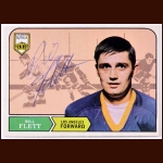 1968-69 Bill Flett Los Angeles Kings Autographed Rookie Card - Deceased
