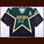2003-04 Brenden Morrow Dallas Stars Pre-Season Game Worn Jersey – Team Letter