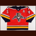 2006-07 Ruslan Salei Florida Panthers Game Worn Jersey – Alternate - Member of the 2011 KHL Lokomotiv Tragedy - Photo Match - Team Letter
