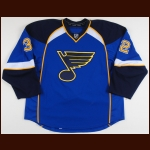 2011-12 Chris Porter St. Louis Blues Game Worn Jersey - Photo Match – Team Letter