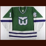 1989-90 Pat Verbeek Hartford Whalers Game Worn Jersey - 44-Goal & 228 PIMS Season - Career Best 45 Assist & 89 Point Season - Photo Match