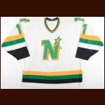1988-89 Mike Gartner Minnesota North Stars Game Worn Jersey - 400th Goal - Photo Match