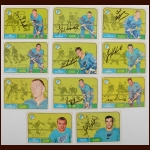 Lot of (11) 1968-69 OPC St. Louis Blues Autographed Cards – Includes Deceased