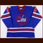 "1975-76 Bobby Hull WHA Winnipeg Jets Game Worn Jersey – ""1976 Olympic"" - Avco Cup Winning Season - Photo Match"