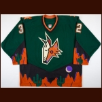 2002-03 Brad May Phoenix Coyotes Game Worn Jersey – Alternate – Team Letter