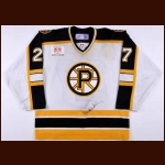2005-06 Jason MacDonald Providence Bruins Game Worn Jersey – AHL Letter