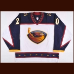 2002-03 Jeff Odgers Atlanta Thrashers Game Worn Jersey – Team Letter