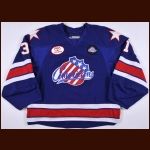 "2010 Alex Petizian Rochester Americans Game Worn Jersey - ""75-year AHL Anniversary"""