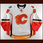 2013-14 Joe Colborne Calgary Flames Game Worn Jersey - Photo Match