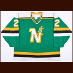 1990-91 Ulf Dahlen Minnesota North Stars Game Worn Jersey