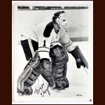 Roger Crozier Sabres Autographed 8x10 B&W Photo - Deceased