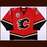 "2003-04 Oleg Saprykin Calgary Flames Stanley Cup Finals Game Worn Jersey – ""2004 Stanley Cup Finals"" - Team Letter"