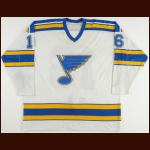1983-84 Jack Brownschidle St. Louis Blues Game Worn Jersey - Retired Number