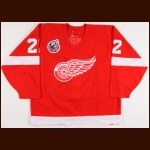 1992-93 Dino Ciccarelli Detroit Red Wings Game Worn Jersey – Team Letter