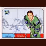 1968-69 Joe Szura Oakland Seals Autographed Card - Deceased