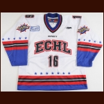 "2004 Kevin Spiewak ECHL All Star Game Worn Jersey – ""2004 ECHL Peoria All Star Game"" - ECHL Letter"