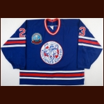 "1992-93 Jason Gladney Kitchener Rangers Game Worn Jersey – ""75-year Memorial Cup"""