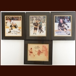 Lot of (10) Boston Bruins Matted and Framed Autographed Photos
