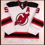 2010-11 Zach Parise New Jersey Devils Game Issued Jersey - Team Letter