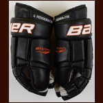 Scott Niedermayer Anaheim Ducks Black Bauer Game Worn Gloves – Auotgraphed