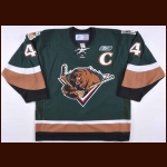 2006-07 Ed Campbell Utah Grizzlies Game Worn Jersey – ECHL Letter