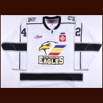 "2012-13 Devin Didiomete Colorado Eagles Game Worn Jersey – ""10-year Anniversary"" – ECHL Letter"