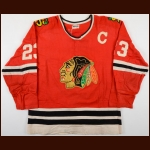 "1975-77 Lucien DeBlois Sorel ""Eperviers"" Black Hawks Game Worn Jersey"