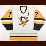 1988-89 Paul Coffey Pittsburgh Penguins Game Worn Jersey - 1st Team NHL All Star - All Star Season - 30-Goal, 83-Assists, 113 Points - Photo Match - Video Match