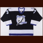 2003-04 Brad Lukowich Tampa Bay Lightning Game Worn Jersey - Stanley Cup Season – Team Letter