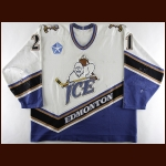 1996-97 Jason Norrie Edmonton Ice Game Worn Jersey - Inaugural Season