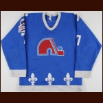 "1986-87 Lane Lambert Quebec Nordiques Game Worn Jersey – ""Rendezvous '87"""