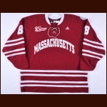 "2013-14 Colin Shea UMass-Amherst Minutemen Game Worn Jersey – ""30-year Hockey East Anniversary"""