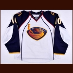 2008-09 Bryan Little Atlanta Thrashers Game Worn Jersey - Photo Match – Team Letter