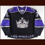 2007-08 Mike Cammalleri Los Angeles Kings Game Worn Jersey -Photo Match – Team Letter
