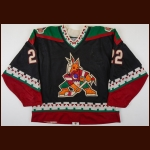1996-97 Mike Gartner Phoenix Coyotes Game Worn Jersey - Inaugural Season - Photo Match – Team Letter