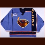 "2006-07 Johan Hedberg Atlanta Thrashers Game Worn Jersey – ""Garth Brooks"" - Photo Match"