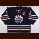 2001-02 Jason Smith Edmonton Oilers Game Worn Jersey - Team Letter