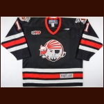 1999 Dean Stork Portland Pirates Game Worn Jersey – Team Letter