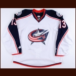 2015-16 Cam Atkinson Columbus Blue Jackets Game Worn Jersey - Photo Match – Team Letter