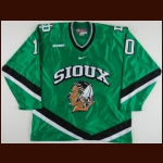 2008-09 Andrew Kozek University of North Dakota Game Worn Jersey - Photo Match – Team Letter