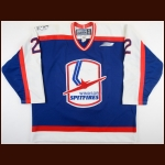 "1999-00 Max Linnik Windsor Spitfires Game Worn Jersey – ""25-year Anniversary"""