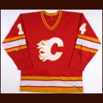 1980-81 Kent Nilsson Calgary Flames Game Worn Jersey - Inaugural Season - 131 Point Season – Photo Match
