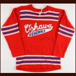 Bobby Orr Oshawa Generals Autographed Replica Wool Jersey – The Patrick Roy Collection – Patrick Roy Letter