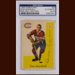 Don Marshall 1959 Parkhurst – Montreal Canadiens – Autographed – PSA/DNA