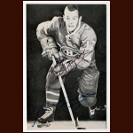 Yvan Cournoyer Montreal Canadiens Autographed Postcard