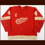 "1950's Leonard ""Red"" Kelly Detroit Red Wings Game Worn Jersey"
