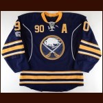 2016-17 Ryan O'Reilly Buffalo Sabres Game Worn Jersey - Photo Match – Team Letter