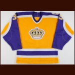 "1986-87 Darren Eliot Los Angeles Kings Game Worn Jersey – ""20-year Anniversary"""